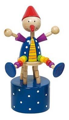 Goki Drukfiguren Clown Rode Muts