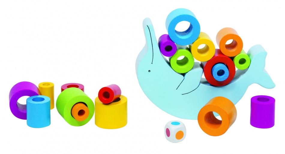 Goki Evenwichtsspel Balancerende Dolfijn 17 x 12 cm