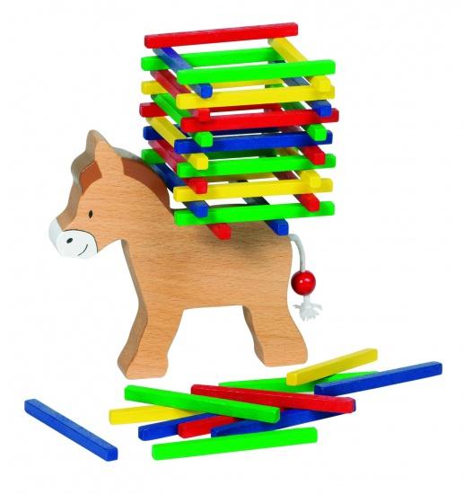 Goki evenwichtsspel balancerende ezel 12 cm