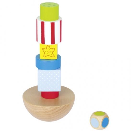 Goki evenwichtstoren hout 8 delig