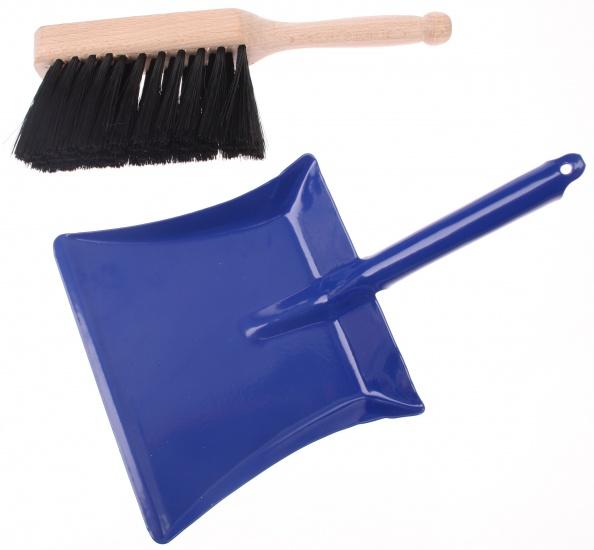 Goki Handveger en Blik 18cm Blauw