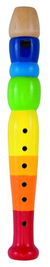 Goki Houten Blokfluit: Regenboog 20 cm