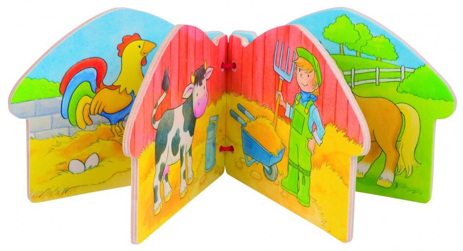 Goki Houten Boekje: Mijn Boerderij 12 X 9 cm 8 Plaatjes
