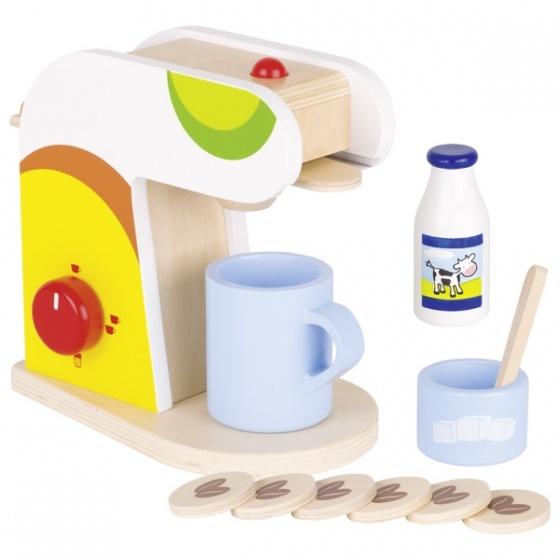 Goki houten koffiezetmachine set 11 delig