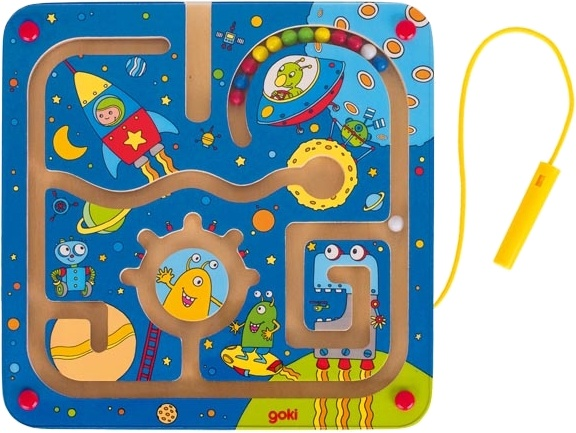 Goki houten labyrint puzzel heelal 21 cm