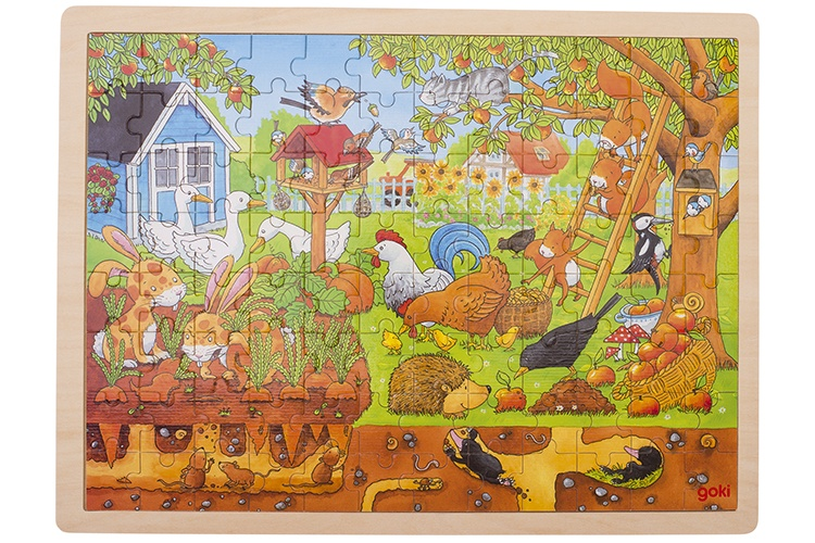 Goki houten legpuzzel tuin 96 delig