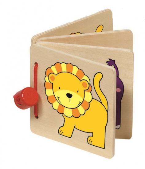 Goki Houten Mini Boekje: Leeuw