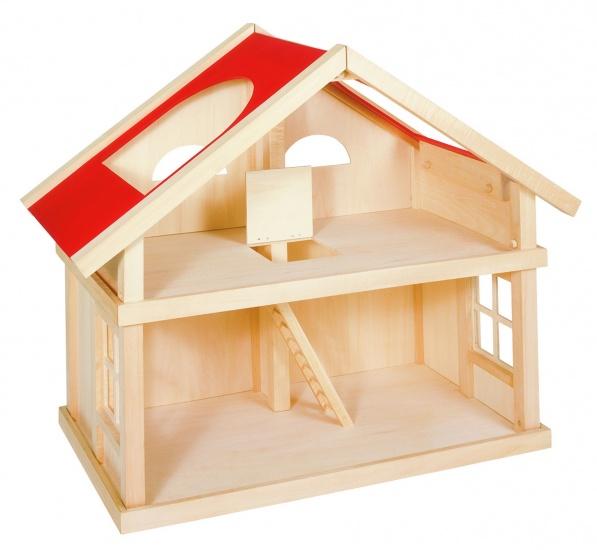 Goki houten poppenhuis hout bruin-rood, Base Toys