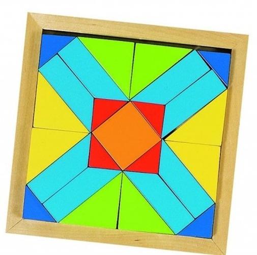 Goki vormenpuzzel Een Wereld van Vormen junior hout 25 stukjes