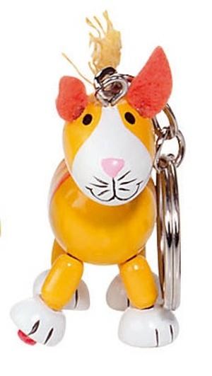 Goki Houten Sleutelhanger: Flexibele Kat