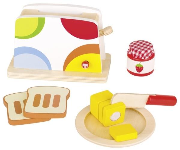 Goki houten broodrooster set 10 delig