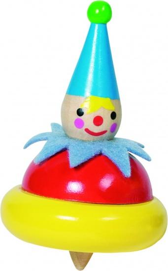 Goki Houten Tol: Clown Met Blauwe Muts