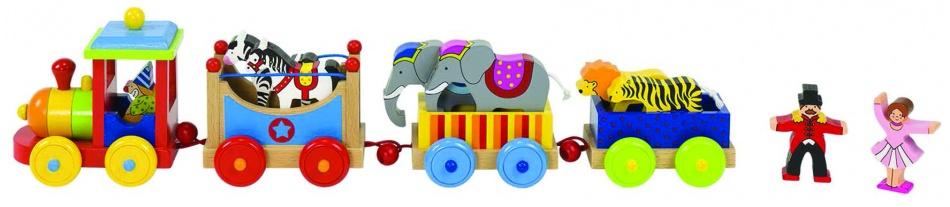 Goki Houten Trein Circus Livorno 45 X 8,9 X 11,5 cm