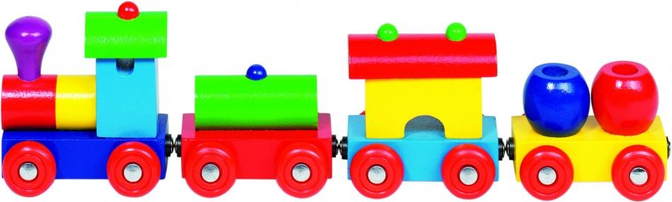 Goki Houten Trein Peru Met Magneetkoppeling