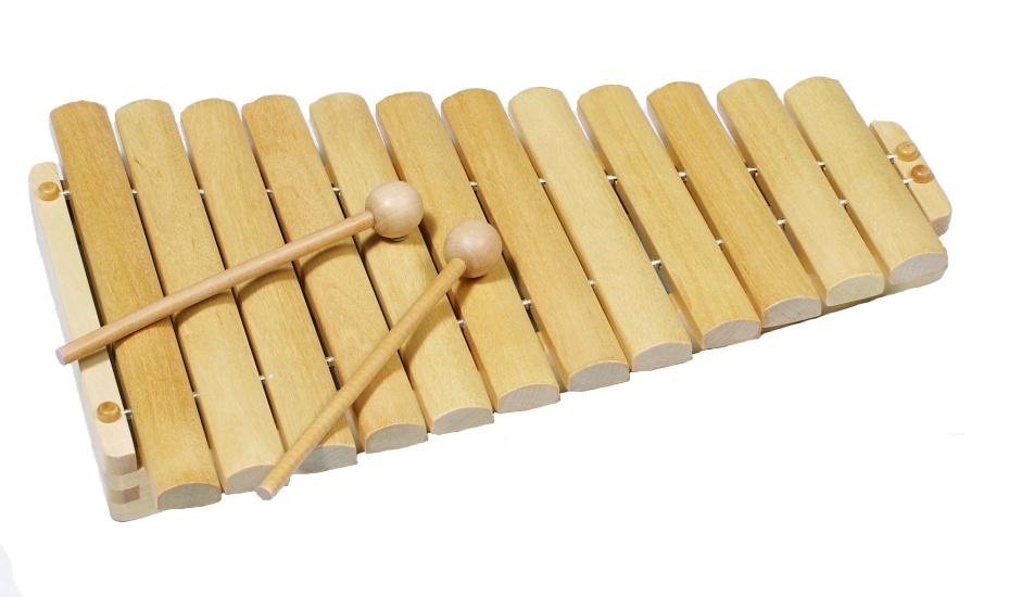 Goki Houten Xylofoon: Blank 34,5 cm