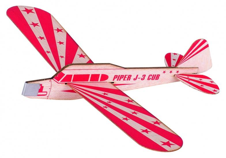 Goki Houten Zweefvliegtuig Piper J 3 Club: 28,8 cm