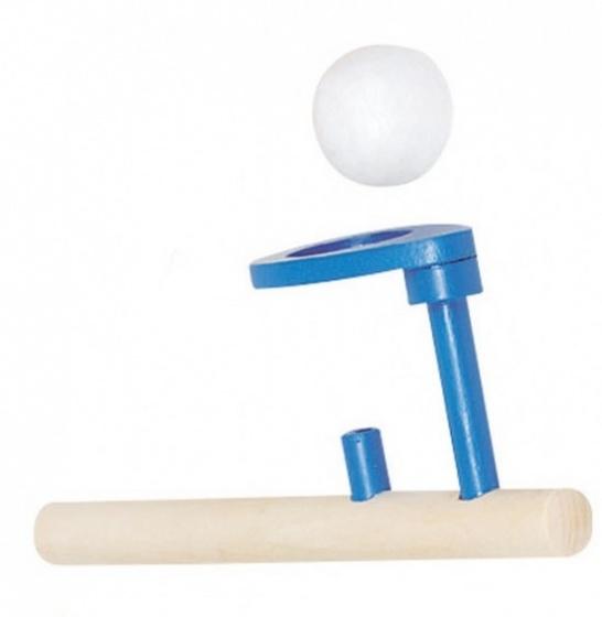 Goki Houten Zwevende Bal: 15 X 5 cm Blauw