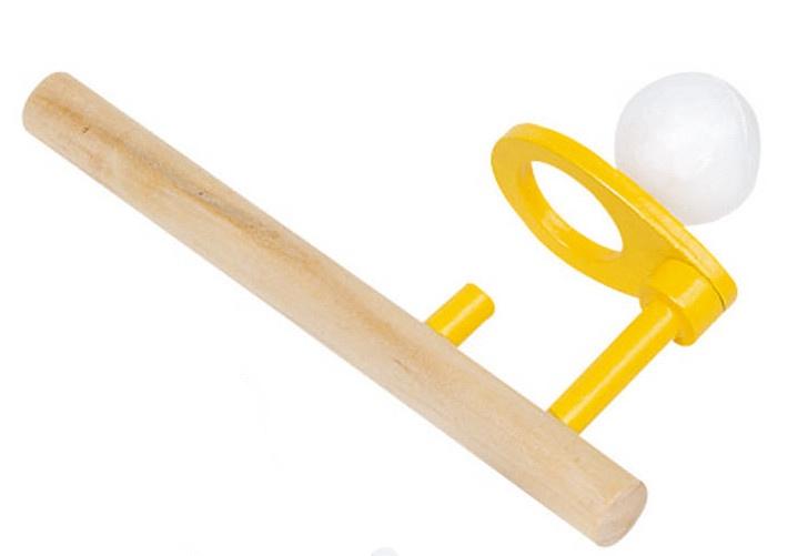 Goki Houten Zwevende Bal: 15 X 5 cm Geel