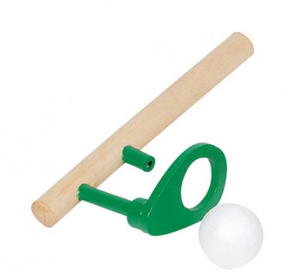 Goki Houten Zwevende Bal: 15 X 5 cm Groen