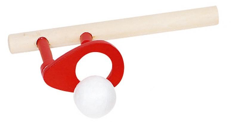 Goki Houten Zwevende Bal: 15 X 5 cm Rood