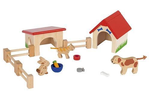 Goki huisdierenset hout 14 delig