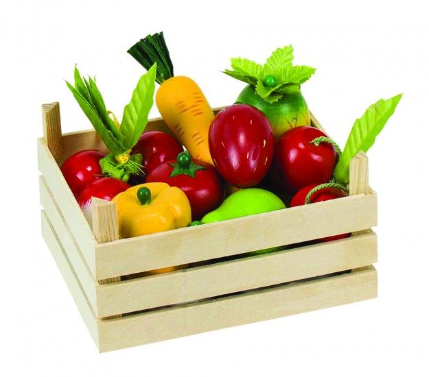 Goki Kistje Met Fruit en Groenten 10 Delig