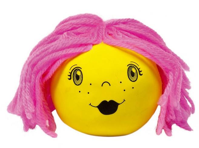 Goki Kneedfiguur: Ballon Met Gezicht Geel
