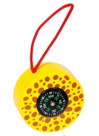 Goki Kompas: Safari Geel Met Bruin 5 cm