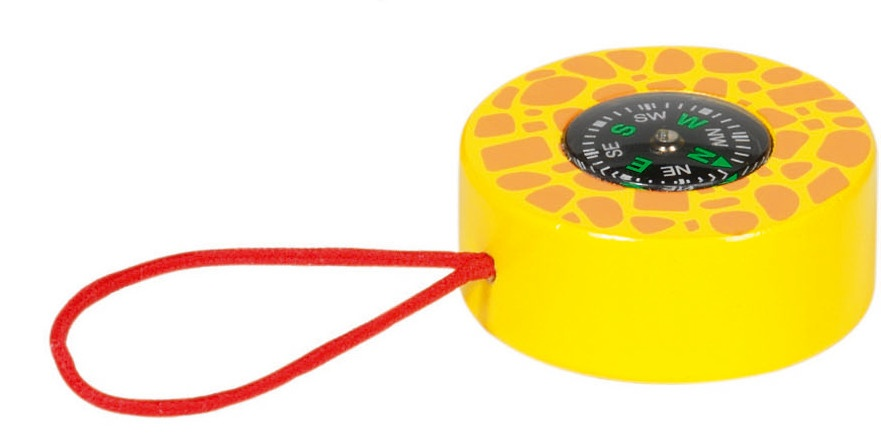 Goki Kompas: Safari Geel Met Oranje 5 cm