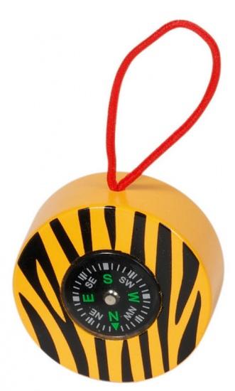 Goki Kompas: Safari Oranje Met Zwart 5 cm