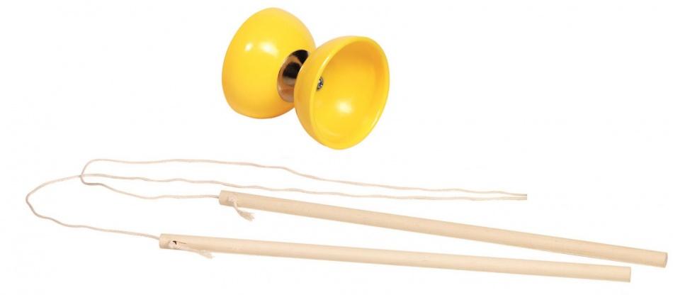 Goki kunststof diabolo 10 cm geel
