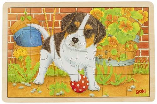Goki Legpuzzel hout pup 24 delig