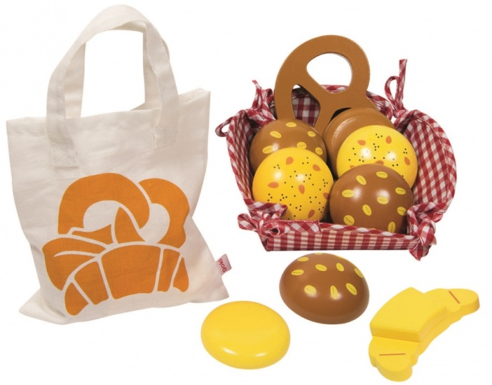 Ontbijtmand-picknickset Met Houten Brood