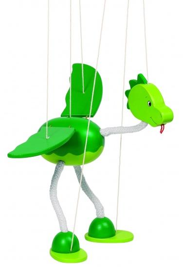 Goki Marionet Draak Nepomuk 27cm