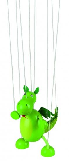 Goki Marionet Draak 16cm