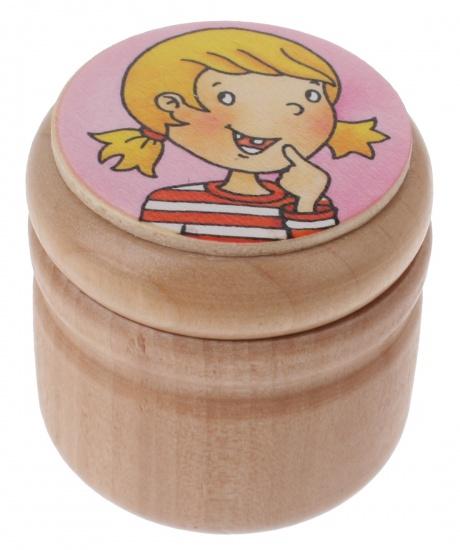 Goki melktanddoosje meisjes roze 4 cm