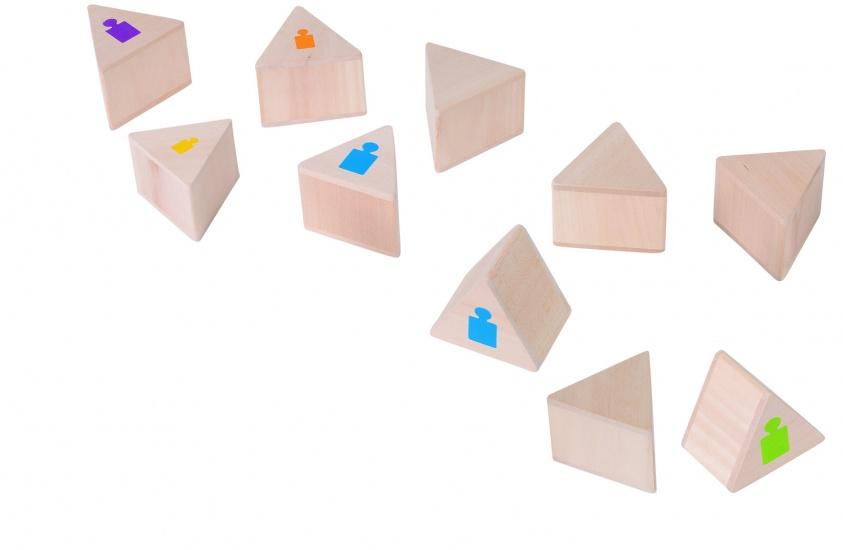 Goki Memory Gewichten Houten Blokjes 7 X 7 cm