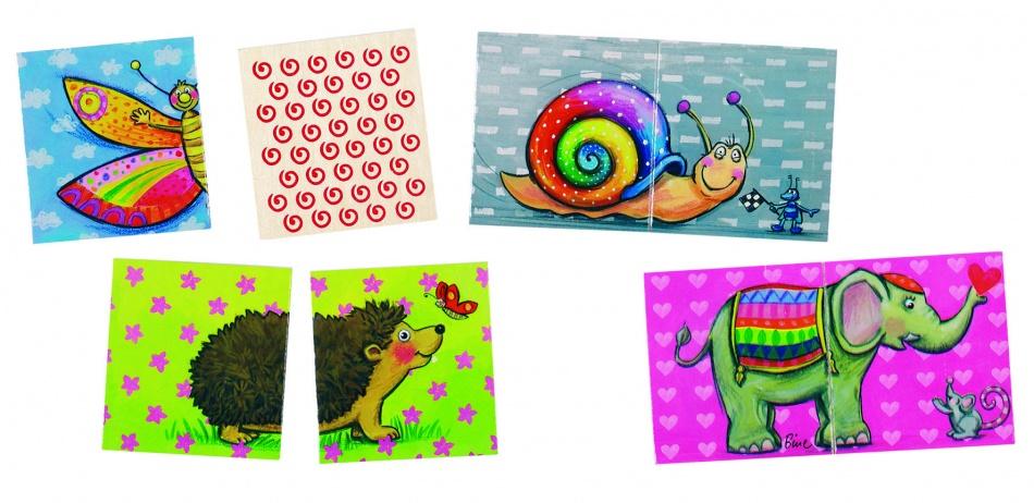 Goki memory en puzzel dieren 32 delig