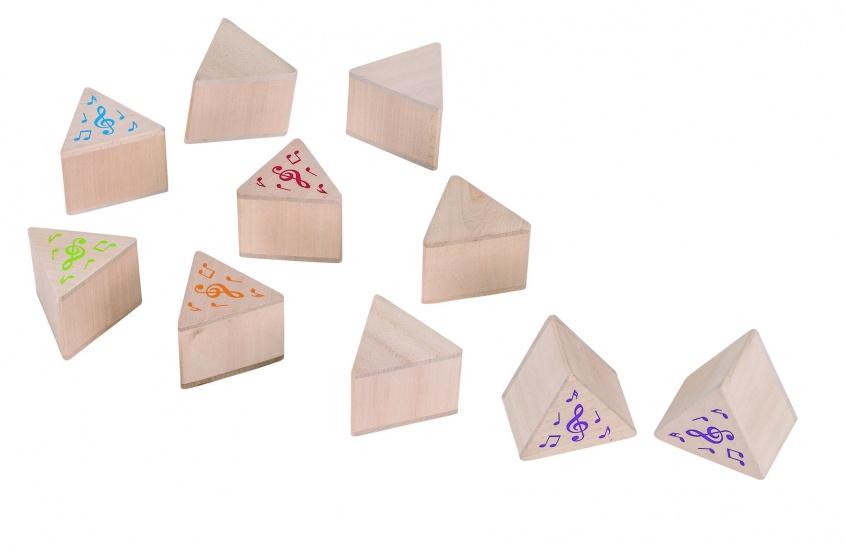 Goki Memory Geluiden Houten Blokjes 7 X 7 cm
