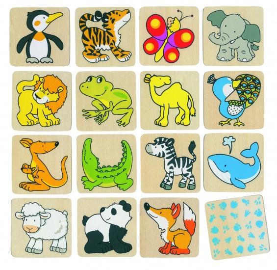 Goki memory wilde dieren 32 delig