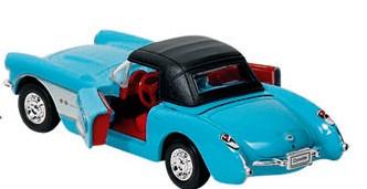 Goki Metalen Chevrolet Corvette 1957 Turquoise Met DAK