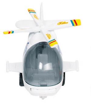 Goki Metalen Helikopter 10 cm Wit