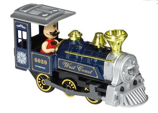 Goki Metalen Klassieke Locomotief: Met Licht en Geluid Blauw