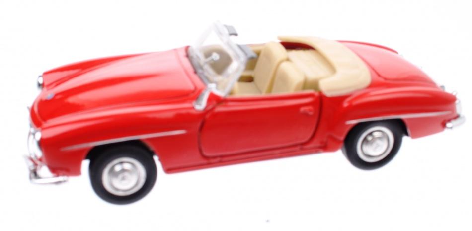 Welly Metalen Mercedes Benz 190 SL (1955): Rood