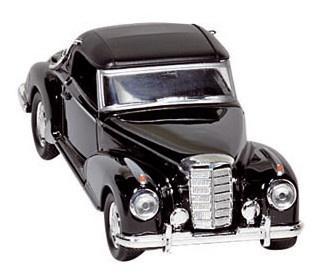Goki Metalen Mercedes Benz 300 S (1955): Zwart Met DAK
