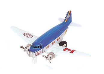 Goki Metalen Vliegtuig 12 cm Donkerblauw