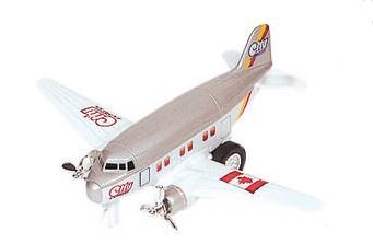 Goki Metalen Vliegtuig 12 cm Grijs