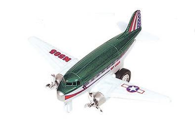 Goki Metalen Vliegtuig 12 cm Groen
