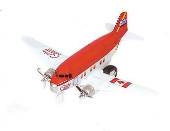 Goki Metalen Vliegtuig 12 cm Rood