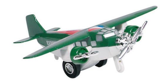 Goki Metalen Vliegtuig 14 cm Groen